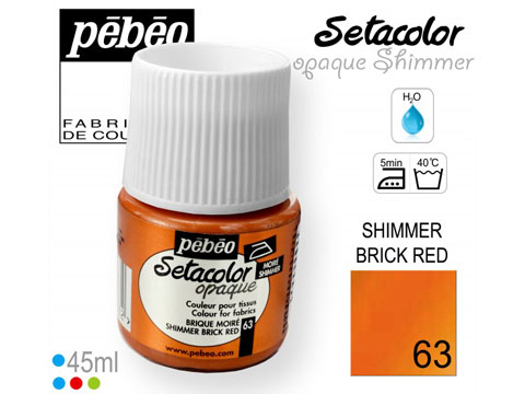 Боя за текстил Opaque Shimmer 45мл.brick red 63