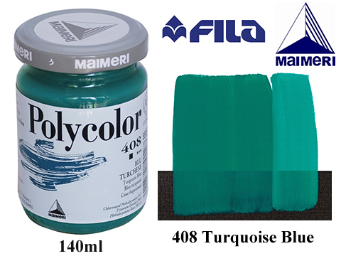 Акрилна боя Polycolor 140мл.Turquoise blue 408