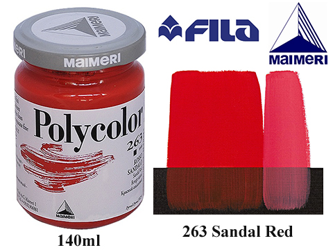 Акрилна боя Polycolor 140мл.Sandal red 263