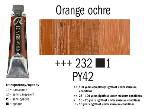 Маслена боя Рембранд 40мл,1с,orange ochre 232