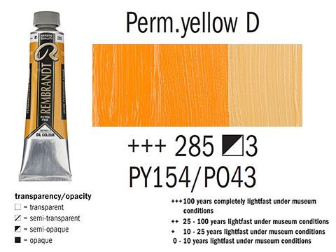 Маслена боя Рембранд 40мл,3с,permanent yellow deep 285