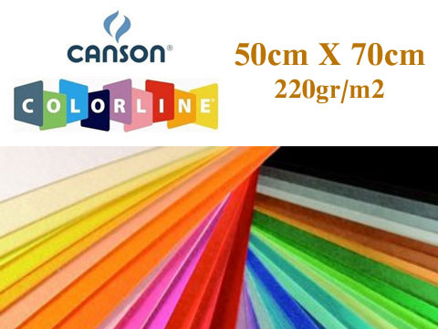 Цветен картон Colorline 50х70см,220гр