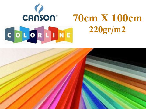 Цветен картон Colorline 70х100см,220гр