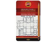 К-т черни технически моливи 10H-HB