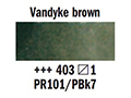 Акварел Рембранд 1/2pan с.1,vandyke brown 403
