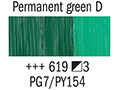 Маслена боя Рембранд 40мл,3с,permanent green deep 619