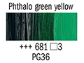 Маслена боя Рембранд 40мл,3с,phthalo green yellow 681